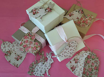 Sets of 15 Vintage Chic Floral Gift Tags Tag Heart Rabbit Bird Wedding Table
