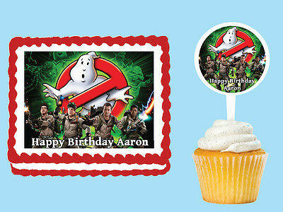 GHOSTBUSTERS Edible Cake Topper Cupcake Image Decoration Birthday Party