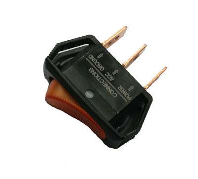 12V 20A ON-OFF Rocker Switch with Red LED Car Boat Dash Light Push Fit #SW40