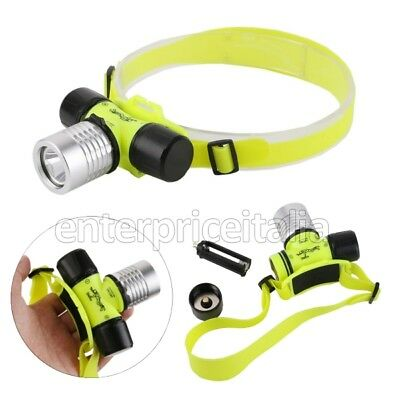 Torcia Diving Sub Subacquea Snorkeling A Led Cree 120 Lumens Pesca Luce Notturna