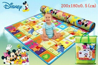 SAFE!Baby Kid Toddler Play Crawl Picnic Waterproof Mat Double Sides 200*180cm