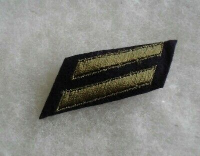 Wwii  Army 6 Year Service Hash Mark 2 Stripes Emb Od On  Felt