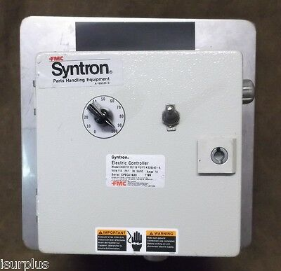 FMC Syntron Electric Controller Model- CNDCTR PE118 FO/PT # 229040-A / 18 Amps