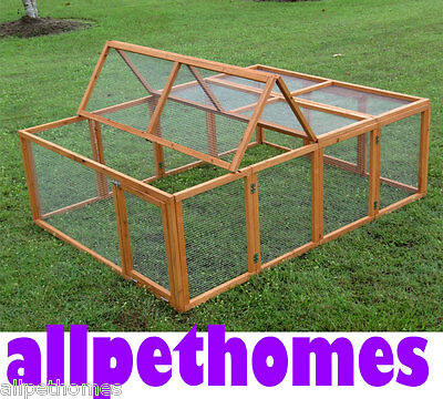 LARGE Chicken Coop Rabbit Hutch Ferret Cage Hen Chook House Guinea Pig Run G200