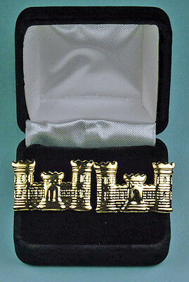Corps of Engineer Cuff Links in Presentation Gift Box Army Cufflinks USA 868GL