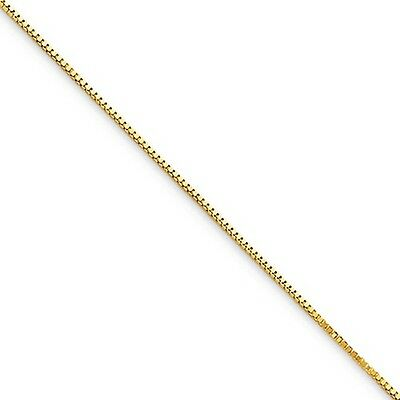 10k Yellow Gold 16in .5mm Box Necklace Chain