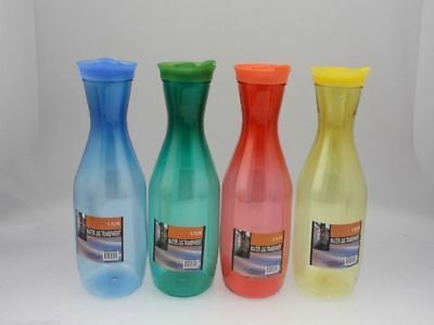 8 x Water Jugs 1.5L Thirst Plastic Carafe 4colours Dining Juice Wholesale lot