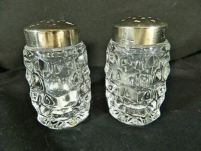 """Vintage/Fostaria/Cut Glass Salt and Pepper Shakers/3"""" Tall"""