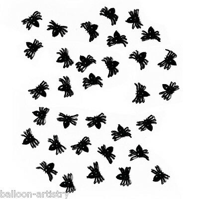 50 Little Halloween Horror Party Black Plastic Spiders Toys Favours Sprinkles
