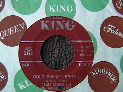 """JAMES BROWN & THE FAMOUS FLAMES """"COLD SWEAT"""" 7"""" 45 R & B SOUL"""