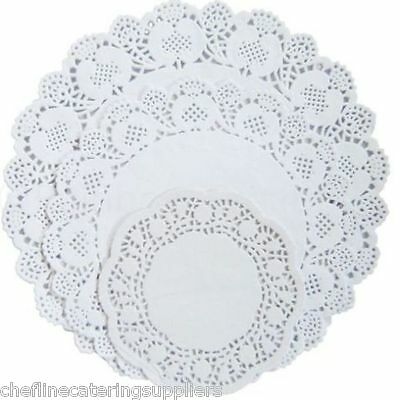 250x Round Paper Lace Doyleys Doilies Catering Party Wedding Crafting Coasters