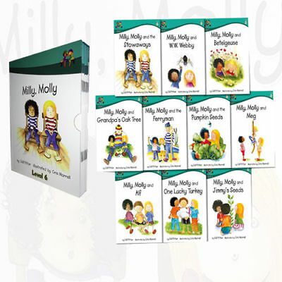 Read At Home Milly Molly Level 6 Children 10 Books Collection Box Set School
