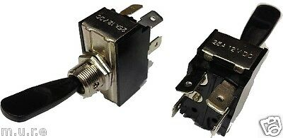 Flash//Off//Flash Spring Loaded Heavy Duty HD Metal Toggle Flick Switch Momentary K852 ROBINSON