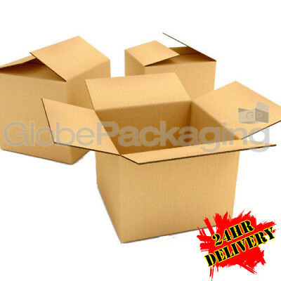 """20 x LARGE S//W CARDBOARD POSTAL MOVING MAILING BOXES 19x12.5x14/"""" SINGLE WALL"""