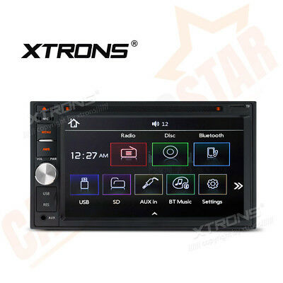 """XTRONS 6.2"""" Double 2 DIN In Dash Car Stereo Headunit CD DVD Player Bluetooth UK"""