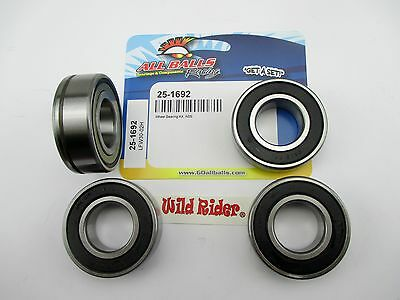 All Balls Wheel Bearing Kit w/ ABS; Softail Dyna V Rod Rear 08-14 Harley Custom.