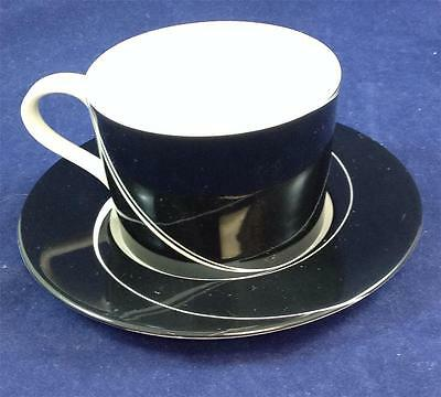 Block BLACK PEARL Cup and Saucer Set GREAT CONDITION