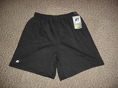 New Boys Small S Russell 100% Cotton Black Shorts Youth Gym Exercise Running!