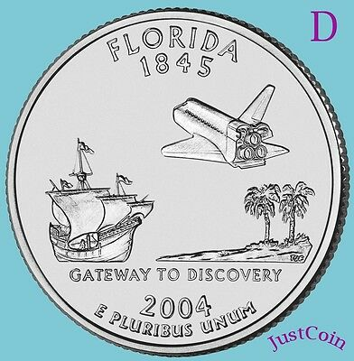 2004-D Florida (Fl) State Quarter Uncirculated From U.s. Mint * State Quarters