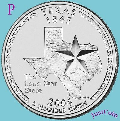 2004-P Texas (Tx) State Quarter Uncirculated From U.s. Mint * State Quarters