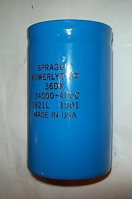 Recovered Sprague  34,000Mfd 40V  DC capacitor