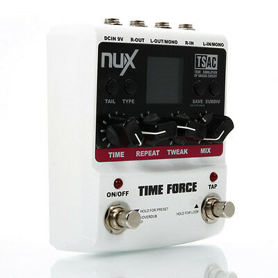 New NUX TIME FORCE Multi Digital Delay Effect pedal 11 delay models