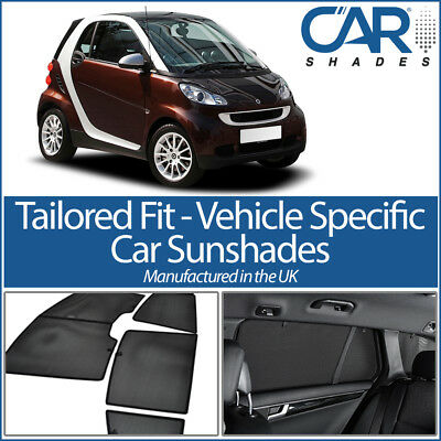 Smart Fortwo 07- UV CAR SHADES WINDOW SUN BLINDS PRIVACY GLASS TINT BLACK
