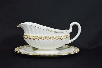 Royal Worcester Kempsey Gravy Boat with Underplate
