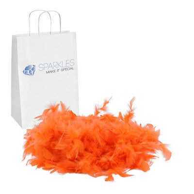2yd Orange Feather Boa Birthday Bachelorette Party Wedding Special Event Decor