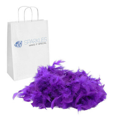 2yd Purple Feather Boa Birthday Bachelorette Party Wedding Special Event Decor