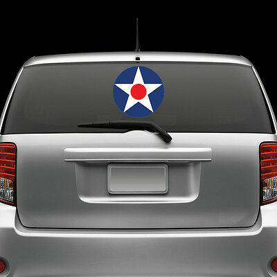 USAAC Roundel Windshield Sticker Decal Vinyl Large United States Army Air Corp