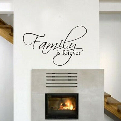 Family Is Forever Removable Quote Wall Sticker Decal Wallpaper Art Home Decor C8