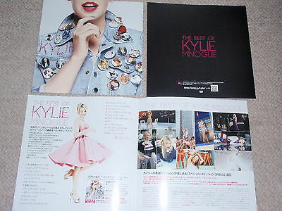 KYLIE MINOGUE Best of 2012 CD foldout EMI Japan promo flyer Aphrodite Greatest
