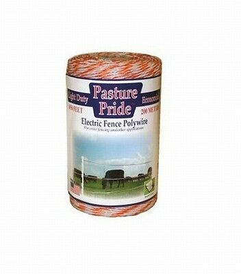 Parker 912 656 ft. Pasture Pride Light Duty Elctric Fnce Polywire, Orange/White