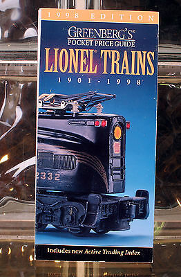 Greenbergs Guide To Lionel Trains 1901 - 1998 Includes Active Trading Index