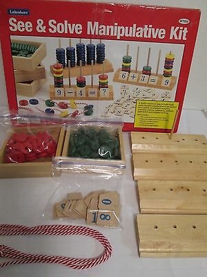 Lakeshore See n Solve Manipulative Kit for Parts NOT COMPLETE Please Read
