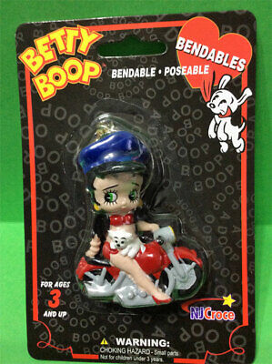 Betty Boop Motorcycle Babe With Pudgy 3D Keychain Cute!