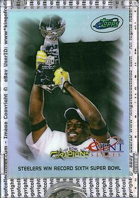 PITTSBURGH STEELERS WIN RECORD 6TH SUPER BOWL 2008 eTopps eVent IN HAND #/1499