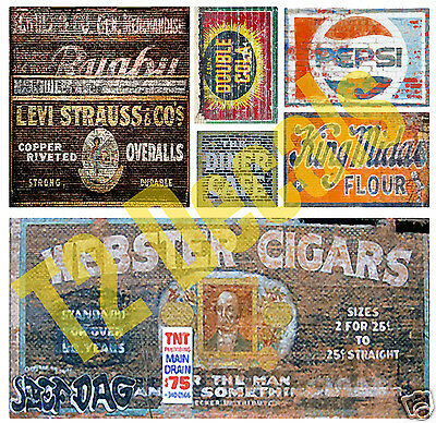 O Scale Ghost Sign Decals #5 - Great for Weathering Structures / Buildings!