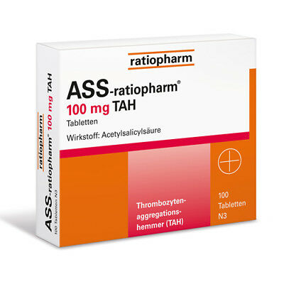ASS RATIOPHARM 100 mg TAH Tabl. 100St PZN 01343682