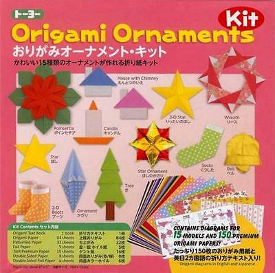 Japanese Origami Paper Kit - Holiday Christmas Ornament #7324 S-3620