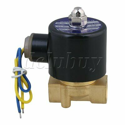 """DC 12V 3/8"""" Water Air Gas Fuel Electric Solenoid Valve 2W-040-10"""