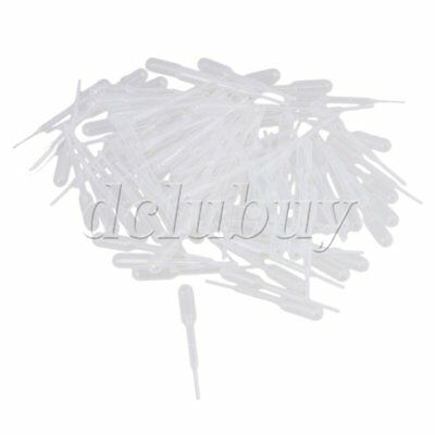 New 100Pcs 0.2ML Disposable Pipet Droppers Transfer Pasteur Pipettes Plastic