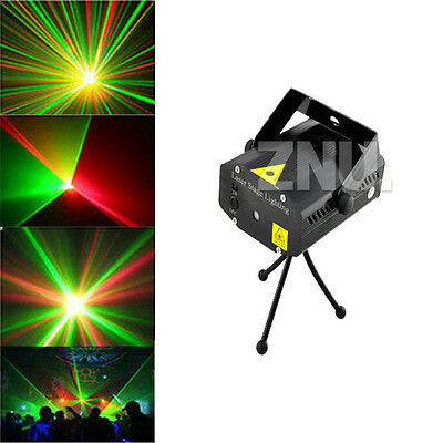 Mini R&G Laser Stage Lighting Disco Club Party DJ Light Effect Projector- Black