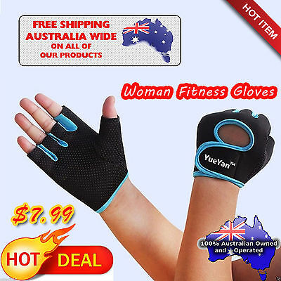 Women Half Finger Sports GYM Body Building Training Fitness Weight Lift Gloves