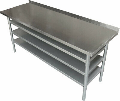 1.8M #304 Sb Gym Cafe Stainless Steel Medical Centre Bench ,3 Undershelf