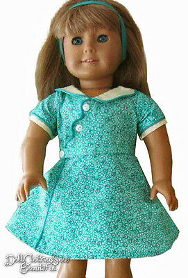 "Birthday Dress & Headband made for 18"" American Girl KIT Doll Clothes"