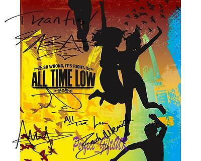 All Time Low So Wrong Its right Band SIGNED AUTOGRAPHED 10X8 REPRO PHOTO PRINT 1