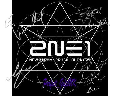 2NE1 Crush Band SIGNED AUTOGRAPHED 10X8 REPRO PHOTO PRINT CL Bom Dara Minzy