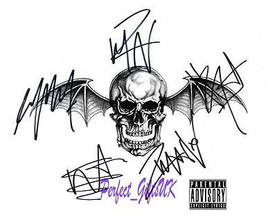 Avenged Sevenfold Band SIGNED AUTOGRAPHED 10X8 REPRO PHOTO PRINT The Rev